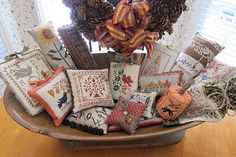 Faye's fall smalls (try saying that quickly a few times!).  LOVE the display!