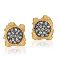 Mixed Metal Lava Studs by Kevia