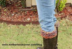 Crochet Pattern for Boot Cuffs - Kimberlees Korner