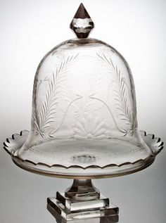 Abigails Cakeplate with Dome Crosby Manhattan