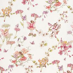 Flower Fairies Cream Fabric