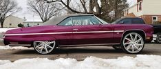 Candy Purple 75 Chevy Caprice Vert on Amani Forged 2017 Chevy Camaro, Chevy Impala Ss, Fancy Cars, Retro Cars, My Dream Car, Dream Cars, Candy Paint Cars, Donk Cars, Chevrolet Caprice