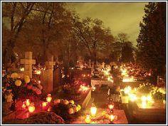 All Saints' Day is a festival which has been celebrated in Poland and the rest of the Catholic world for many centuries. All Saints Day is a national holiday, and a day when people all over Poland visit the graves of loved ones and to place candles and flowers on graves. The special candles, which can burn for many hours, are placed there so that departed souls can find their way through the darkness. Cemeteries are lit by many hundreds of these candles and at night the cemeteries can often…