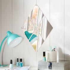 Acrylic Mirror Set, Diamonds | PBteen