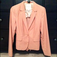 Lightweight coral blazer Super cute, worn only 2x! Light material. Back is a little different and can be adjusted with tie. Single button.❗️NO trades / make reasonable offers with the Offer feature please / Bundle discount / Items less than $15 and some luxe items are FIRM❗️ Forever 21 Jackets & Coats Blazers