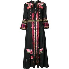 Temperley London - embroidered maxi dress - women - Cotton - 6 ($1,595) ❤ liked on Polyvore featuring dresses, black, embroidery maxi dress, temperley london dress, cotton maxi dress, embroidered cotton dress and broderie dress