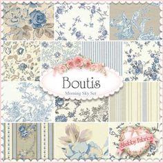 Bruno Lamy's Mas d'Ousvan boutis fabric collection -  Morning Sky Set