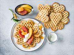 Brunch, Grapefruit, Cookies, Breakfast, Desserts, Food, Belgian Waffle Maker, Morning Breakfast, Waffles