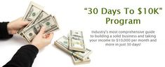 30 Days to $10K Program is Live Now in Big Idea Mastermind by Vick Strizheus