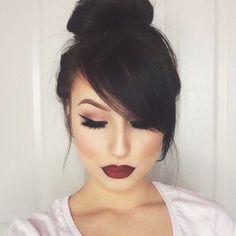 Maquillaje perfecto para chicas con cabello negro