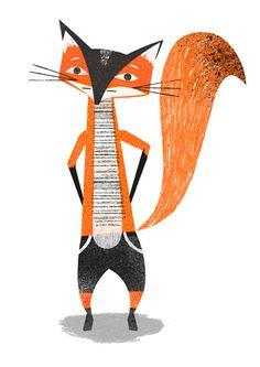 Bright Baby loves Fox illustration Kids Illustrations #BrightBaby www.bright-baby.com