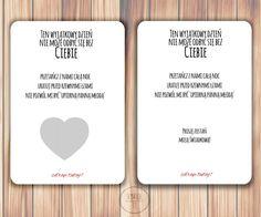 karta zdrapka serce, kartka dla świadkowej, kartka ślub Wedding Inspiration, Fitness