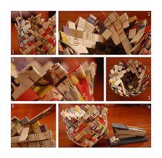 DIY news paper basket