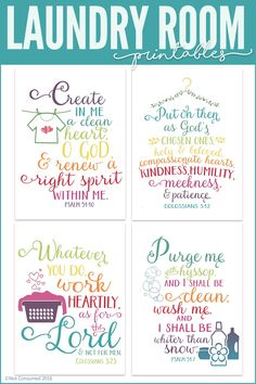 How to Organize a Laundry System for your Family Every laundry room should be lovely. Grab these FREE laundry room printables. The pack includes 4 Bible verses and a how to chart for the kiddos. Laundry Room Signs, Laundry Room Storage, Laundry Rooms, Laundry Shop, Laundry Logo, Laundry Labels, Laundry Room Art, Laundry Decor, Laundry Room Printables