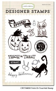 Carta+Bella+-+Trick+or+Treat+Collection+-+Halloween+-+Clear+Acrylic+Stamps+-+Trick+Or+Treat+at+Scrapbook.com
