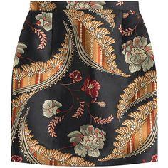 Dsquared2 Jacquard Mini Skirt (9,345 PHP) ❤ liked on Polyvore featuring skirts, mini skirts, bottoms, faldas, saia, multicolor, colorful skirts, jacquard skirt, short black skirt and black mini skirt