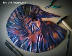 In production, Nautilus just to add the tentacles the tricky part, Medium salvaged copper heat formed to shape, Copper Wall Art, Metal Art, Irish Design, Irish Art, Organic Form, Natural Forms, Nautilus, Tentacle, Metal Working