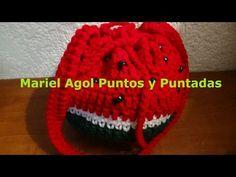Bolsita a crochet en forma de sandía, muy fácil de hacer. - YouTube