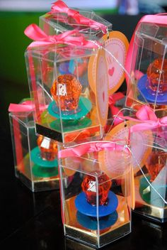 45 Ring Pop Favor Boxes Box only by CandyCrushEvents on Etsy, $50.95...Haha, I'm not that damn crazy!