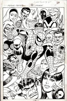 Spider-man Pin-up Romita Sr and Machlan Marvel Fanfare #41, in William B's Amazing Spider-man Comic Art Gallery Room - 1021724