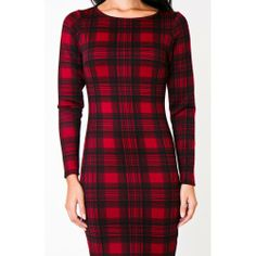Long Sleeve Tartan Print Midi Dress, only £20 online at SexySmalls.com - http://www.sexysmalls.com/home/65-long-sleeve-tartan-print-midi-dress.html