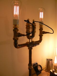 Steam, Brass and Fzz » Steampunk Lamp