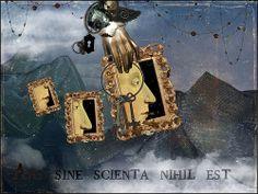 "Made by: Room17 aka Kathy Grieb Kennedy , ""Collage"" - (Keyhole and Keys)"