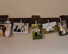Rustic Pallet Photo Holder (5 Pictures)