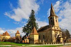Fortified evangelical church, Nocrich, Sibiu county, Transilvania, Romania