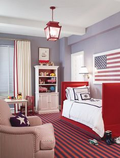 If I ever have a little boy his room will be 100% all red, white and blue