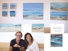 Exposición Pintura Serie Lairaga, Playa de Las Canteras de Alvaro Henríquez, en Guirlache Praliné Noviembre y Diciembre 2017 Pintura, Art, Identity, November, Canvases, Shapes, Beach