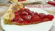 Galette de Fresas  / RECETA CASERA FÁCIL / Josean MG   Strawberry Fields Forever, Panna Cotta, French Toast, Bacon, Snacks, Breakfast, Sweet, Ethnic Recipes, Desserts
