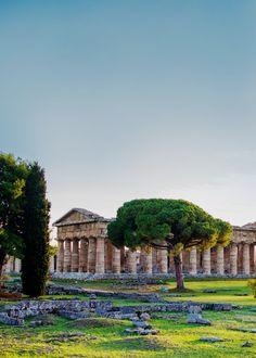 Temple in Paestum (Campania, Italy)
