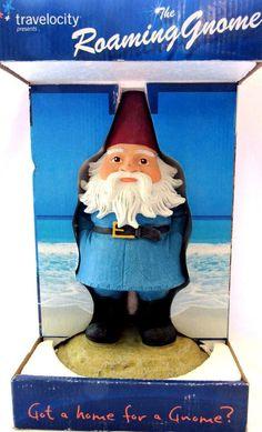 Travelocity Roaming Gnome 13 inch Garden Statue
