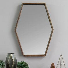 Coupon Corey Wood Accent Mirror By Wrought Studio Circular Mirror, Round Wall Mirror, Bedroom Design On A Budget, Spiegel Design, Mirror Crafts, Simple Closet, Contemporary Wall Mirrors, Dressing Mirror, Glass Center