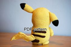I had to crochet the most famous Pokemon of them all: Pikachu! Also think it\\\'s one of the cutest Pokemon. This amigurumi pattern is FREE. Pokemon Crochet Pattern, Pikachu Crochet, Easy Crochet Patterns, Crochet Patterns Amigurumi, Amigurumi Doll, Crochet For Kids, Diy Crochet, Handmade Stuffed Animals, Crochet Books