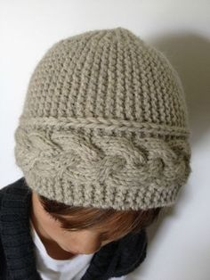 "Ravelry: Neige Eternelle pattern by laurene bassart ""pattern DIY : hat \""neige éternelle\"" / bonnet \""neige There is a pattern in English, yarn drops Uses Free Knitting, Baby Knitting, Knitting Projects, Crochet Projects, Knit Or Crochet, Crochet Hats, Knitting Patterns, Crochet Patterns, Cable Knit Hat"
