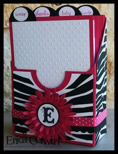 Here's a cool way to keep all your stamped cards organized. Learn how to make your own card keeper box from Erica Cerwin at Pink Buckaroo Designs. This would also make an amazing gift filled … Cute Cards, Diy Cards, Stampin Up Anleitung, 3d Paper Crafts, Stampin Up Catalog, Card Organizer, Card Tutorials, Scrapbook Cards, Homemade Cards