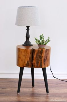 DIY furniture legs--modified Waddell brand mid-century modern legs by DIY Furnit. - DIY furniture legs–modified Waddell brand mid-century modern legs by DIY Furniture Studio. Unique Wood Furniture, Tree Furniture, Furniture Legs, Recycled Furniture, Live Edge Furniture, Furniture Dolly, Diy Wood Projects, Furniture Projects, Wood Crafts