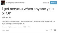 This dilemma that humanity needs to resolve:   Just 21 Really Funny Tumblr Posts About Music http://ibeebz.com