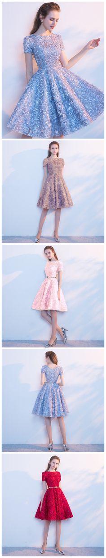 e4e52f2673 A-line Scoop Short Mini Tulle Short Prom Dress Homecoming Dresses SKY749