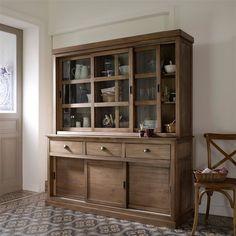 Image 4 Vaisselier 3 portes coulissantes, pin massif, Lunja La Redoute Interieurs 367,37€