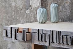 "WOOD DESIGN BLOG || VIJ5 - Netherlands || ""NewspaperWood does not aim to be a large scale alternative to wood, nor to use all paper waste into a new material. The main theme in the project is 'upcycling' with which we show how you can change a surplus of material into something more valuable by using it in another context"" #furniture #wood #design"