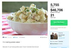My Advice To Kickstarter Potato Salad Guy: Don't Write That Tax Check Just Yet