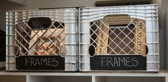 How to spray paint milk crates for unique storage possibilities - this is a good tutorial with examples. I have several of these plastic crates in various colors from Thrift Stores and am considering my options on their possible uses. Spray Paint Plastic, Painting Plastic, Spray Painting, Painting Tips, Plastic Plastic, Cube Storage Unit, Toy Storage Bins, Cheap Storage, Diy Storage
