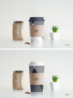 Paper Hot Cup Mockup by Dennysmockups