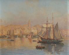 Matinée d'hiver au Vieux Port à Marseille by Joseph Garibaldi