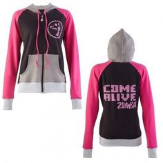 """""""come alive"""" zumba jacket-i want this soo badly! Zumba Outfit, Zumba Fitness, Fitness Gear, Workout Gear, Workout Outfits, Workouts, Boutique, Get In Shape, Hoodie Jacket"""