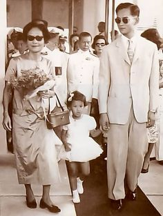 King Bhumibol Adulyadej (Rama IX) , Princess Srinagarindra, Princess Mother of Thailand and Princess Maha Chakri Sirindhon