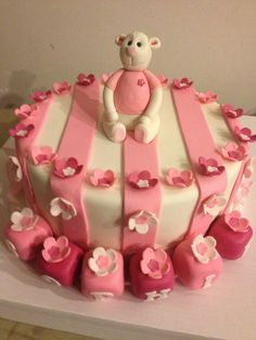 Happy birthday little pink teddy bear! Another gorgeous creation by Belle's Patisserie.
